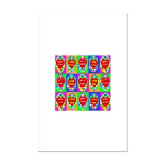 Fifteen Perfect Easter Eggs O Mini Poster Print