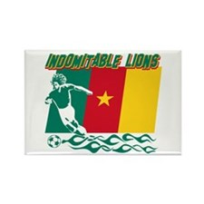 Indomitable Lions Cameroon Rectangle Magnet (10 pa