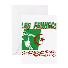 Algerian soccer Greeting Card