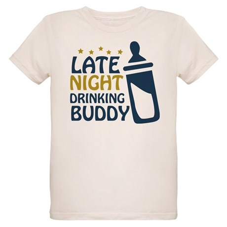 Late Night Drinking Buddy Organic Kids T-Shirt