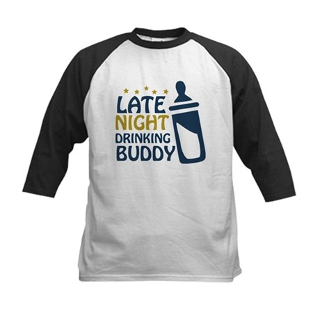 Late Night Drinking Buddy Kids Baseball Jersey