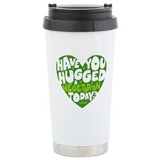 Hug a Vegetarian Ceramic Travel Mug