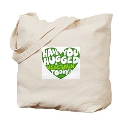 Hug a Vegetarian Tote Bag