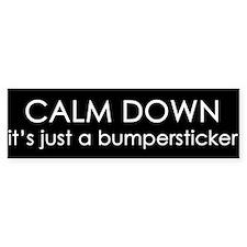 Calm Down Bumpersticker