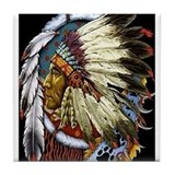 INDIAN CHIEF WHITE CLOUD Tile Coaster