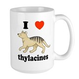 I Love Thylacines Ceramic Mugs