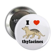 "I Love Thylacines 2.25"" Button (100 pack)"