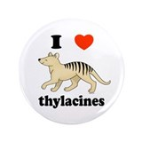 "I Love Thylacines 3.5"" Button (100 pack)"