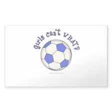 Blue Soccer Ball Decal