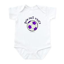 Purple Soccer Ball Infant Bodysuit