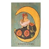 La senorita y la luna. Postcards (Package of 8)