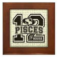 Pisces Twelfth House Framed Tile