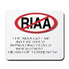 RIAA HATERS MOUSE PAD