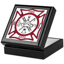 Cute Fire rescue Keepsake Box