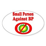 Small People against BP Sticker (Oval 10 pk)