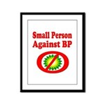 Small People against BP Framed Panel Print