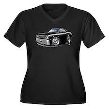 Duster 340 Black Car Women's Plus Size V-Neck Dark