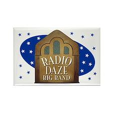 Radio Daze bandstand Rectangle Magnet
