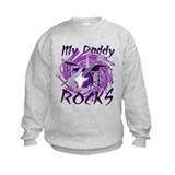 Dad Rocks Purple Sweatshirt