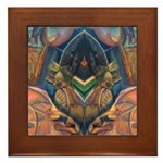 African Heart Framed Tile