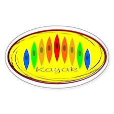 Kayak Rainbow (Yellow) Decal