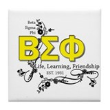 Beta Sigma Phi Tile Coaster