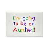 Going to be an Auntie Rectangle Magnet (100 pack)