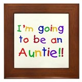 Going to be an Auntie Framed Tile
