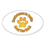 Obey The Wolf Sticker (Oval 10 pk)