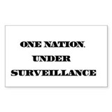 One Nation, Under Surveillance Sticker (Rectangula