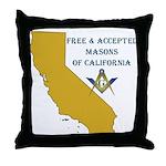 Republic of California Masons Throw Pillow
