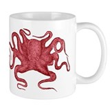 Red Octopus Small Mug