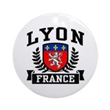 Lyon France Ornament (Round)