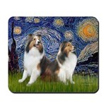 Starry / Two Shelties (D&L) Mousepad
