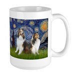 Starry / Two Shelties (D&L) Large Mug