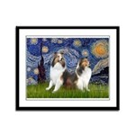 Starry / Two Shelties (D&L) Framed Panel Print