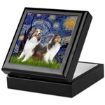 Starry / Two Shelties (D&L) Keepsake Box