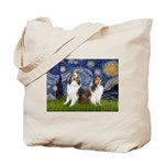 Starry / Two Shelties (D&L) Tote Bag