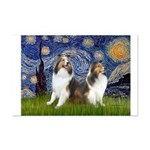 Starry / Two Shelties (D&L) Mini Poster Print