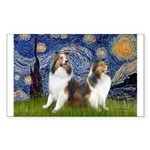 Starry / Two Shelties (D&L) Sticker (Rectangle)