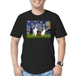 Starry / Two Shelties (D&L) Men's Fitted T-Shirt (