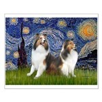 Starry / Two Shelties (D&L) Small Poster
