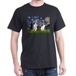 Starry / Two Shelties (D&L) Dark T-Shirt