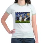 Starry / Two Shelties (D&L) Jr. Ringer T-Shirt