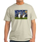 Starry / Two Shelties (D&L) Light T-Shirt