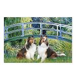 Bridge / Two Shelties (D&L) Postcards (Package of