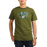 Bridge / Two Shelties (D&L) Organic Men's T-Shirt