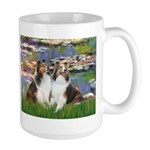 Lilies #2 / Two Shelties Large Mug