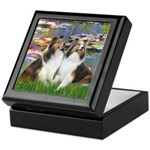 Lilies #2 / Two Shelties Keepsake Box