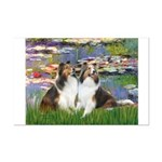 Lilies #2 / Two Shelties Mini Poster Print